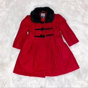 Rothschild red coat with bows